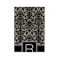 r_monogram_iphone_damask_taupe Rectangle Magnet