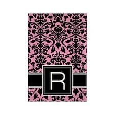 r_monogram_iphone_damask Rectangle Magnet