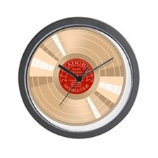 gold-record-T Wall Clock