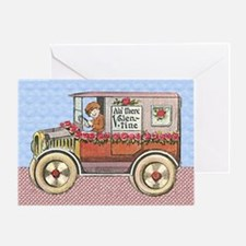 Vintage Valentine Automobile Greeting Card