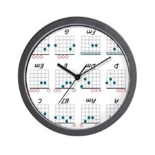 Guitar Cheat Shirt Wall Clock