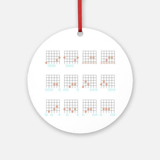 Guitar Cheat Shirt-Inverse Round Ornament