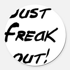 justfreakout Round Car Magnet