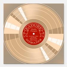 "gold-record-CRD Square Car Magnet 3"" x 3"""