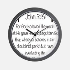 John 3_16 d Wall Clock