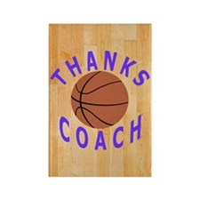 Thanks Basketball Coach Gift Keyc Rectangle Magnet