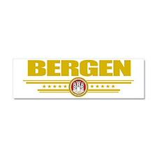 Bergen (Flag 10) pocket Car Magnet 10 x 3