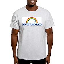 MUHAMMAD (rainbow) Ash Grey T-Shirt