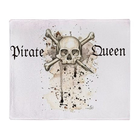 Pirate Queen Throw Blanket