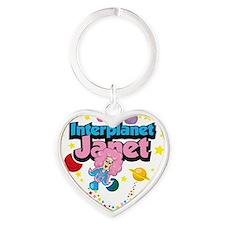 Interplanet-Janet Heart Keychain