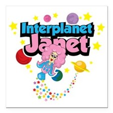 "Interplanet-Janet Square Car Magnet 3"" x 3"""