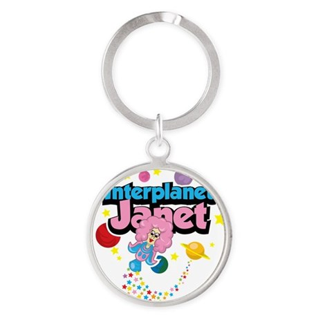 Interplanet-Janet Round Keychain
