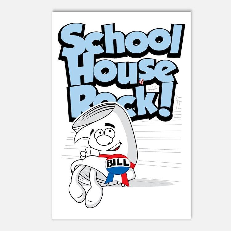 School-House-Rocks-Bill Postcards (Package of 8)