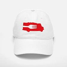 FoodTruck_Side_Fork_Red_Top Baseball Baseball Cap