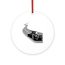 R56 Mini Winding Road Round Ornament
