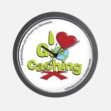 geocaching BUTTON promo Wall Clock