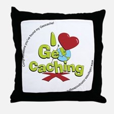 geocaching BUTTON promo Throw Pillow