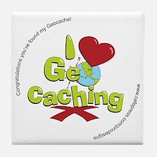 geocaching BUTTON promo Tile Coaster