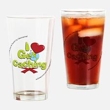 geocaching BUTTON promo Drinking Glass