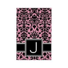 j_monogram_iphone_damask Rectangle Magnet