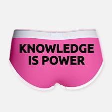 Knowledge Is Power (black) Women's Boy Brief