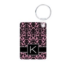 k_monogram_iphone_damask Keychains