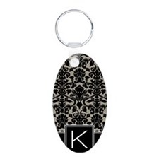 k_monogram_iphone_damask_ta Keychains
