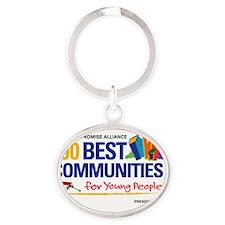 100 Best Logo RGB Oval Keychain