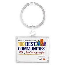 100 Best Logo RGB Landscape Keychain