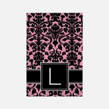 l_monogram_iphone_damask Rectangle Magnet