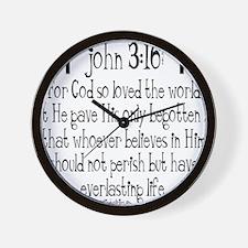 John 3_16 b Wall Clock