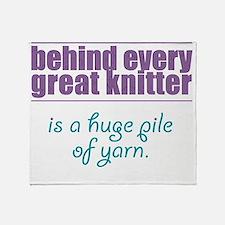 pile of yarn Throw Blanket