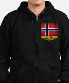 Norway (Flag 10) Zip Hoodie (dark)