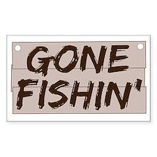 gone fishin_dark Decal