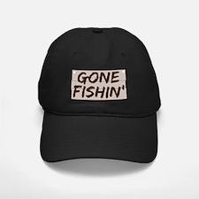 gone fishin_dark Baseball Hat