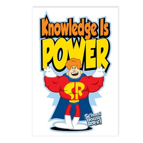 Knowledge-Is-Power Postcards (Package of 8)