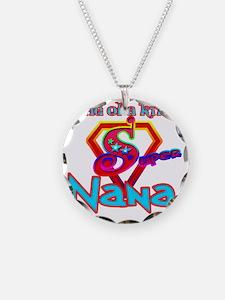 Super Nana Necklace Circle Charm
