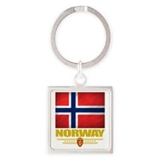 Norway2 (Flag 10) Square Keychain
