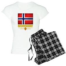 Norway2 (Flag 10) Pajamas