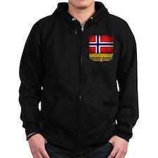 Norway2 (Flag 10) Zip Hoodie