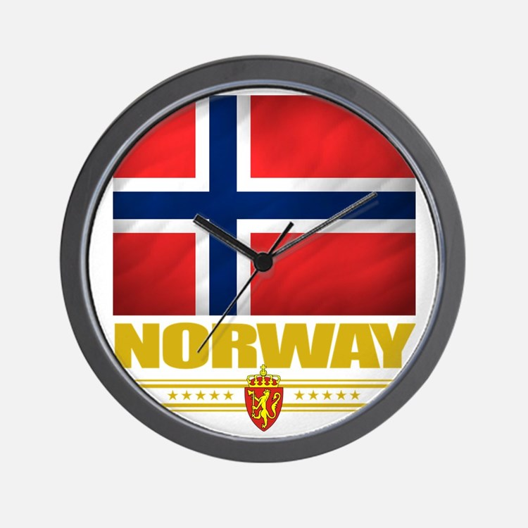 Norway2 (Flag 10) Wall Clock
