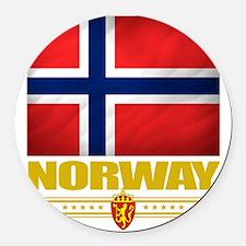 Norway2 (Flag 10) Round Car Magnet