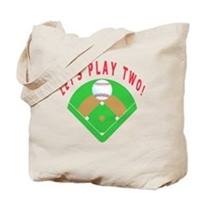 Lets Play Two Baseball T-Shirts and Gifts Tote Bag