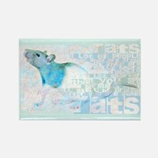 I Love Rats Small Poster Rectangle Magnet
