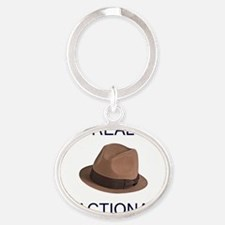 reactionary_10x10 Oval Keychain