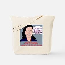 Michele-Bachmann-Tea-Party-Cartoon Tote Bag