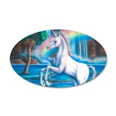 Rainbow_Unicorn_10x15 35x21 Oval Wall Decal