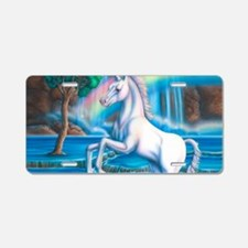 Rainbow_Unicorn_10x15 Aluminum License Plate