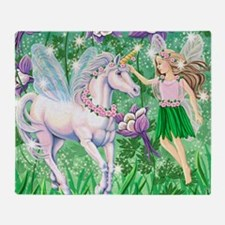 Fairy Unicorn 10x15H Throw Blanket