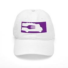 FoodTruck_Side_Fork_Ppl_BG Baseball Cap